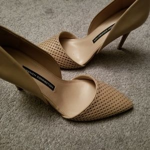 French Connection nude pumps